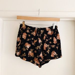 Brandy Melville Shorts - Floral Shorts from Brandy Melville
